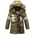 2016 de los niños chaquetas de invierno Para Niño Ocasional Niños Niños de la Chaqueta de Piel de Invierno Con Capucha Gruesa ropa de Abrigo Abrigo Abrigo Abrigos de Invierno