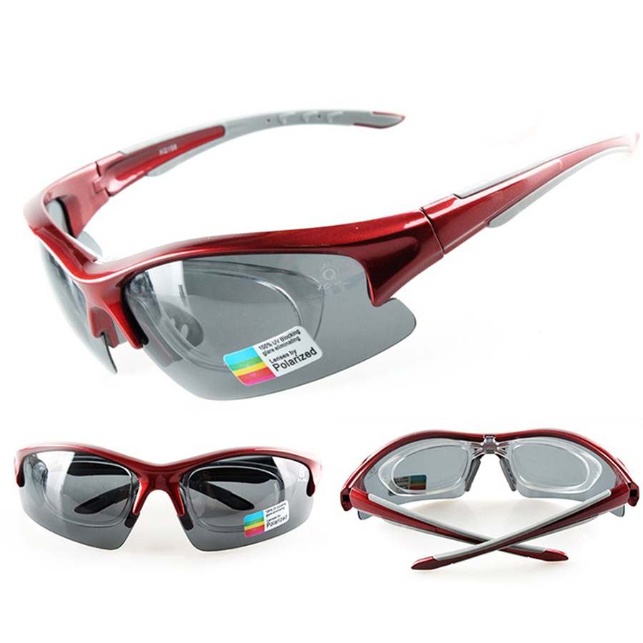 4447bc7d4fc Hot Cycling Glasses Polarized TR90 UV400 With Myopia Frame Outdoor Sports  Bike Sunglasses 5 Lens Protect Eyewear Goggles Unisex