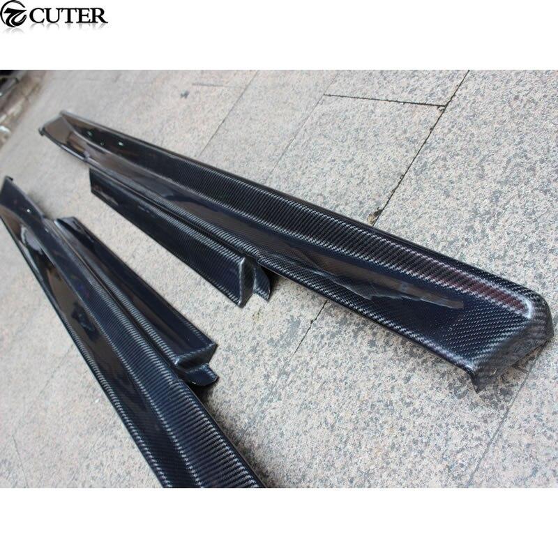 GTR GT-R R35 jupes latérales en fibre de carbone pour Nissan GTR R35 kit carrosserie 08-13
