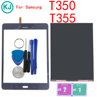 New T355 T350 LCD Display Panel For Samsung Galaxy Tab A SM T355 SM T350 With Touch Screen Digitizer Table PC Front Glass Sensor
