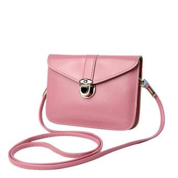 Bolsas 2017 Fashion Purse Leather Crossbody Handbag Single Shoulder bags Women Messenger bags Phone Bag Pink Bolsas de ombro shoulder bag