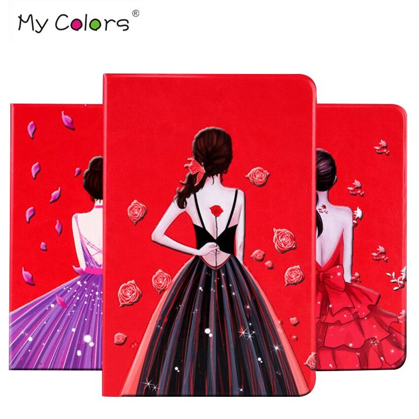 For iPad mini 4 PU Leather Case Cover 7.9 Colorful Print Protective Stand Skin For Apple iPad mini4 mini 4 Tablet Fundas Shell