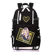 Kaguya sama: Love is War Backpack Canvas Backpack For Women Men Anime Shoulder Schoolbags Mochila