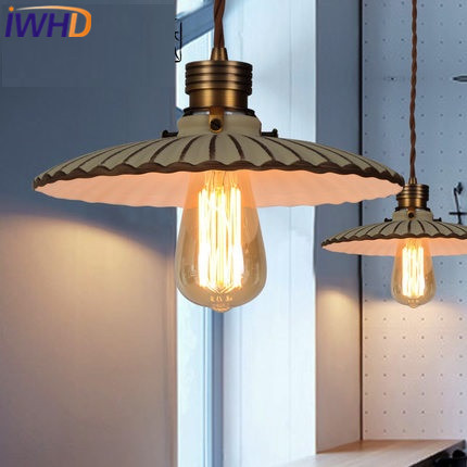 IWHD Ceramic Pendant Light Fixtures Loft Style Vintage Industrial Lighting Hanging Lamp Living Room Kitchen Retro Lamparas iwhd american style wood vintage pendant light fixtures iron retro loft industrial hanging lamp led living room hanglamp lustre