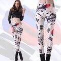 Корейский флаг шаблоны леггинсы высокие эластичные тонкие сексуальные гетры женщины печати леггинсы мода личности брюки для девочек 3200