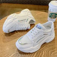 Fashion White Sneakers Women Chunky Ladies Basket Femme Autumn 2019 New Platform Shoes