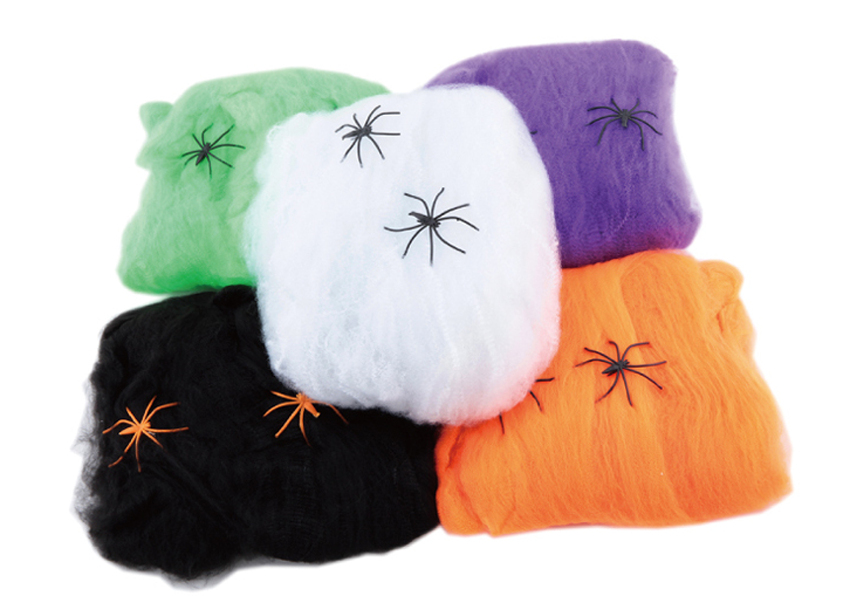 hot stretchy spider web cobweb with spider for halloween party decoration newchina mainland