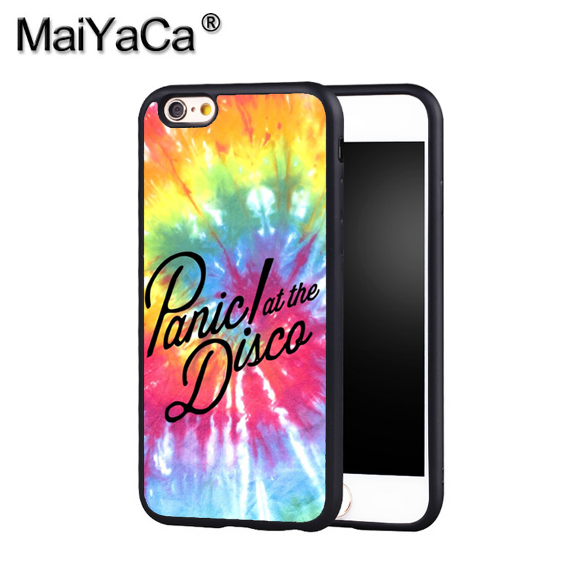 MaiYaCa PANIC! AT THE DISCO #P!ATD Phone Case Cover For Iphone X 8 6 6S Plus 7 7 Plus 5 5S 5C 4S SE Mobie Soft Rubber Case