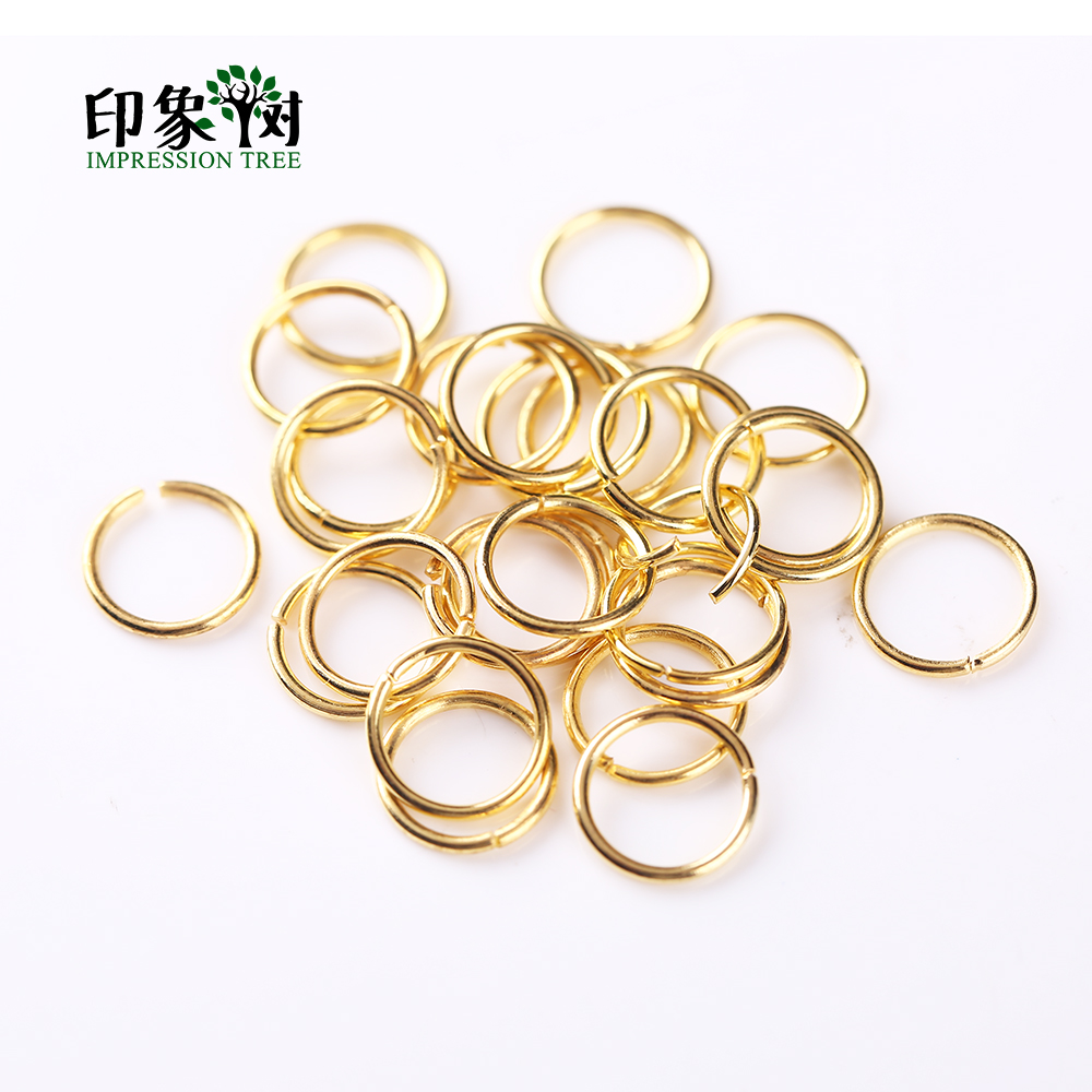 200Pcs/bag Split Jump O Rings Size 4 5 6 <font><b>7</b></font> 8 10 <font><b>12</b></font> 14 16 <font><b>mm</b></font> Metal Gold Plating Connectors DIY Jewelry Findings Making 1101 image