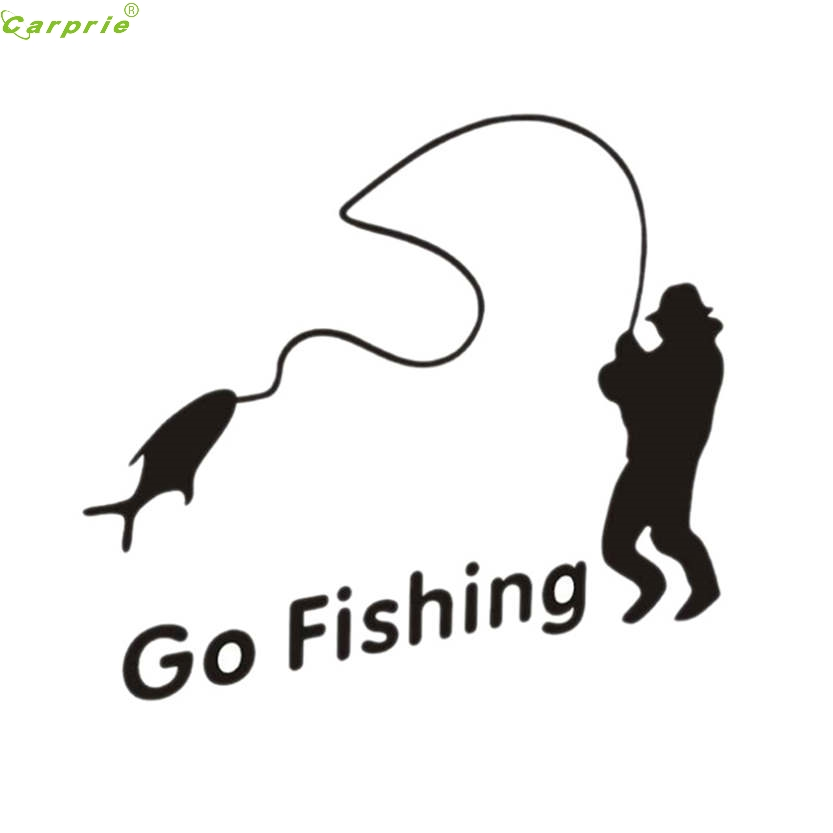 High quality waterproof nice go fishing logo for car tail for Go go fishing