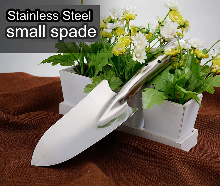 High end florist garden tools stainless steel spade flowering small spade camping spade outdoor utility font