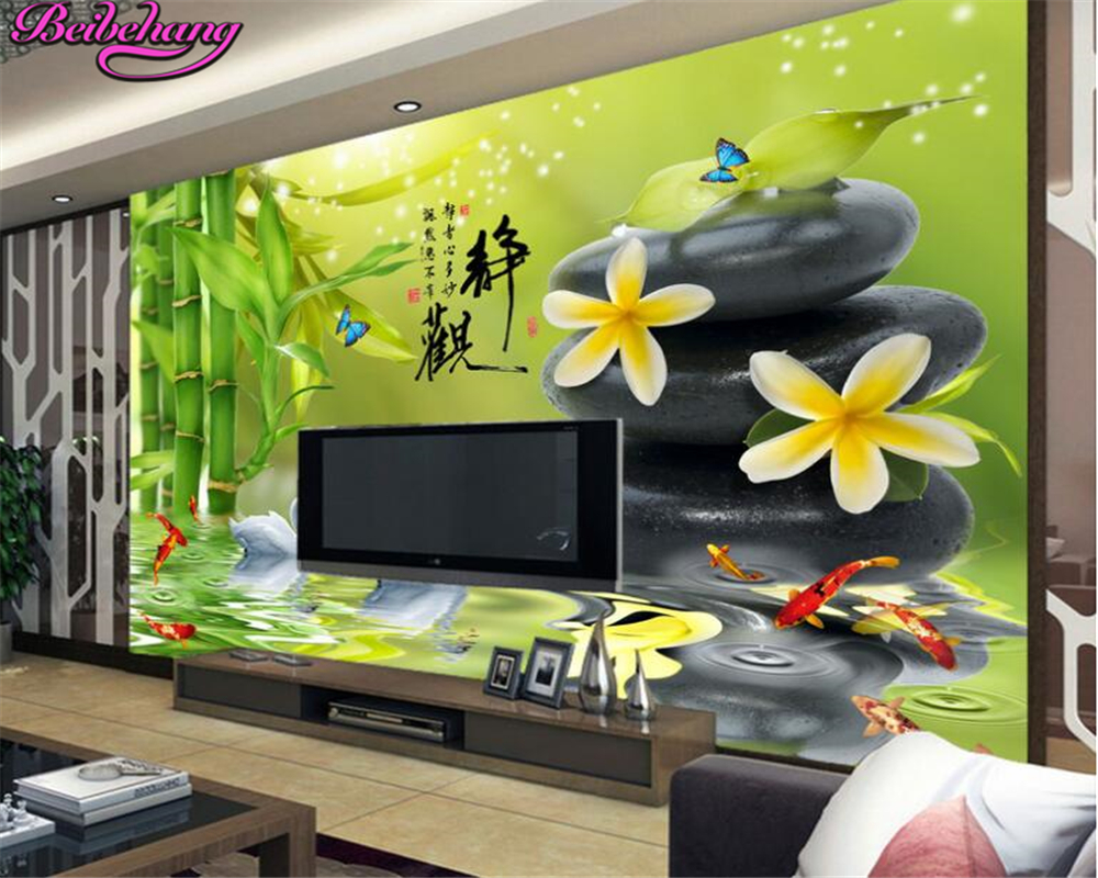 Beibehang HD Wallpaper Static Word 3D Fresh Pebble Bedroom Living Room Wall  Papel De Parede Wallpaper Part 77