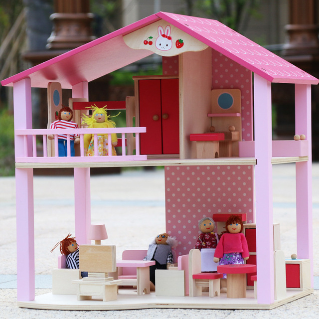 Pretend Play Furniture Toys Wooden Dollhouse Furniture Miniature Toy