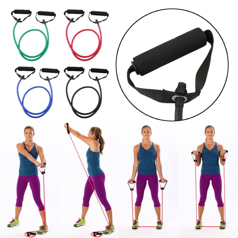 Kauçuk Lateks Direnç Halat Exerciese Tüpler Elastik Bantları Yoga Pilates Egzersiz için Fitness Ekipmanları S. P. F.121502 Ücretsiz nakliye