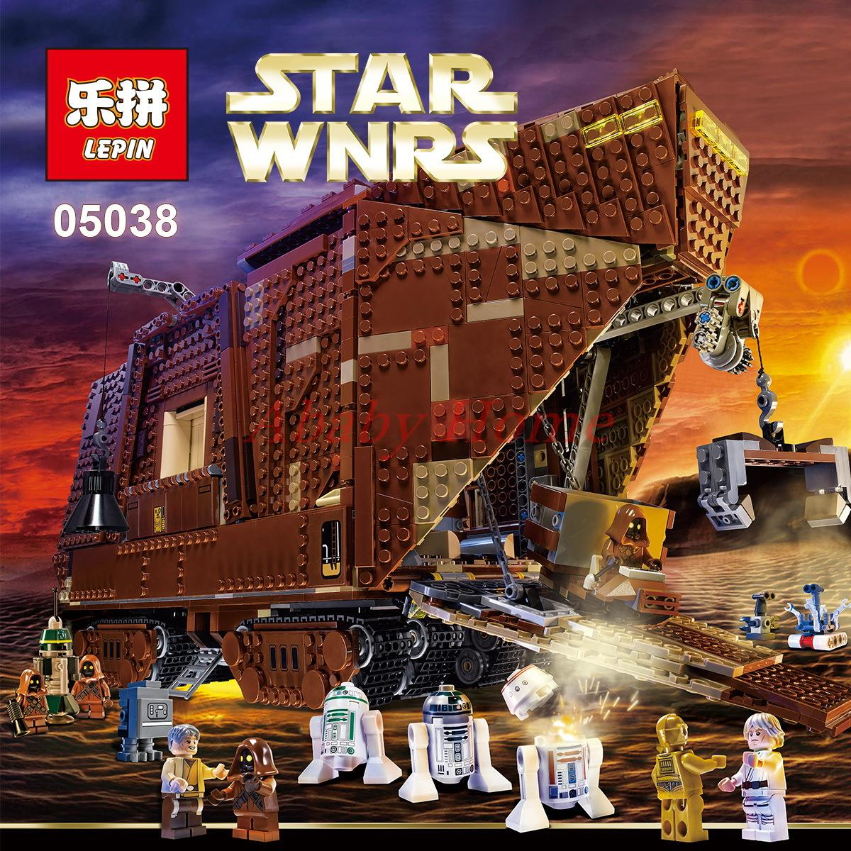In Stock 2016 font b LEPIN b font 05038 Star Wars Sandcrawler Building Blocks Model Toy3346pcs