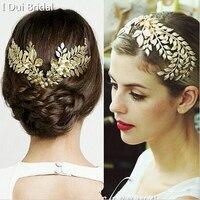 Baroque Tiara Vintage Gold Leaf Hair Accessories Bridal Headband
