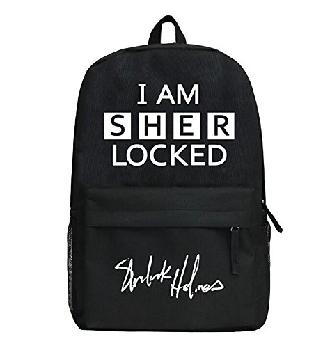 Sherlock Holmes Cosplay Backpack Sherlock Cosplay Shoulder Bag Black Version For Costume Accessory 29*45*13CM
