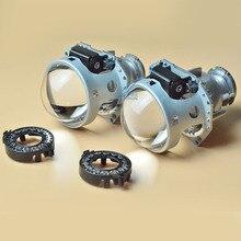 Car Light Parts 2 pcs 3.0 inch HELLA 5 HID Bifocal Projector Lens, with bulb adapter D2S D2R D4S D4R