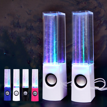 2017 Water Dancing Audio system One Pair Stereo MP3 Music Fountain Subwoofer TF/USB Participant LED Mild HIFI Sound Field for Laptop Laptop
