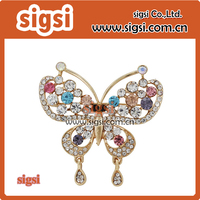 elegant Colorful Crystal Rhinestone Butterfly Brooch Pin Mix Color Austrian Cute Butterfly Brooch Fashion Jewelry