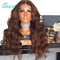 200% 250% Density Pretty Wavy Lace Front Human Hair Wigs with Baby Hair Pre Plucked 13*4 Middle Part Remy Hair Wig Qearl Hair