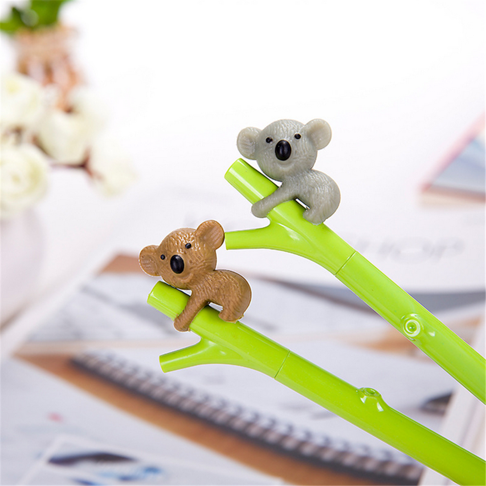 Cute Animal Pen Creative Stationery Gel Ink Pen 0.5mm Black Pens Student Supplies TOMTOSH