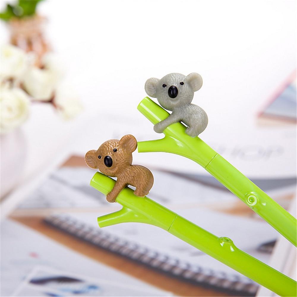 Cute Animal Pen Creative Stationery Gel Ink Pen 0.5mm Black Pens Student Supplies TOMTOSH