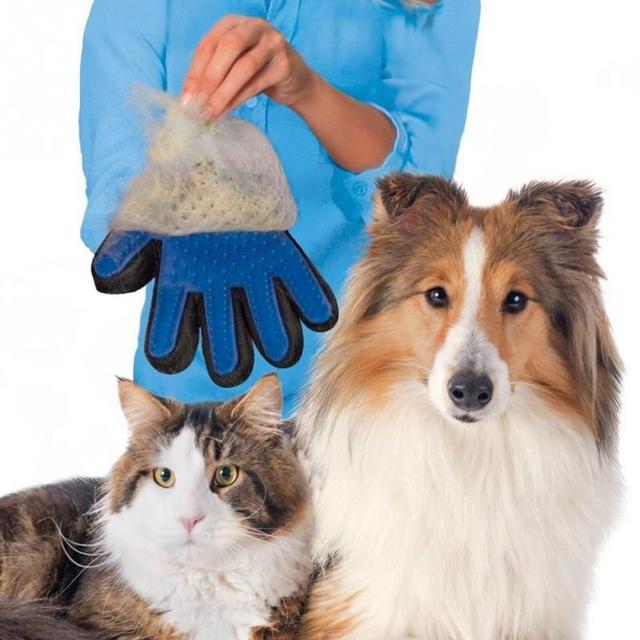 Guante de cepillo para mascotas de silicona para limpiar el cabello guante de masaje para mascotas suministros para perro gato perro cepillo de limpieza del pelo peine