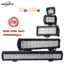 Modoao 3 4 7 12 20 inch 12W 18W 36W 72W 126W LED Work Light Bar for Motorcycle Tractor Boat Off Road 4WD 4x4 Truck SUV