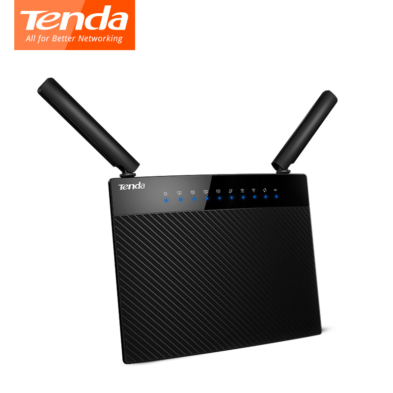 все цены на  Tenda AC9 Wireless Router Dual Band Wifi Router 1200Mbps Gigabit Wifi Repeater 2.4G 5G 11AC 2 Antenna  онлайн