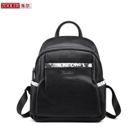 ZOOLER Top Quality Backpack Genuine Leather Bag Women Leather Backpack Special Patchwork Bags School Girl Fashion