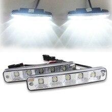 10 Вт 6000 К привело день огни для всех день Бег света лампы Универсальный 12 В Автомобильные светодиодные DRL авто, дневной свет Высокая мощность автомобиля источник света