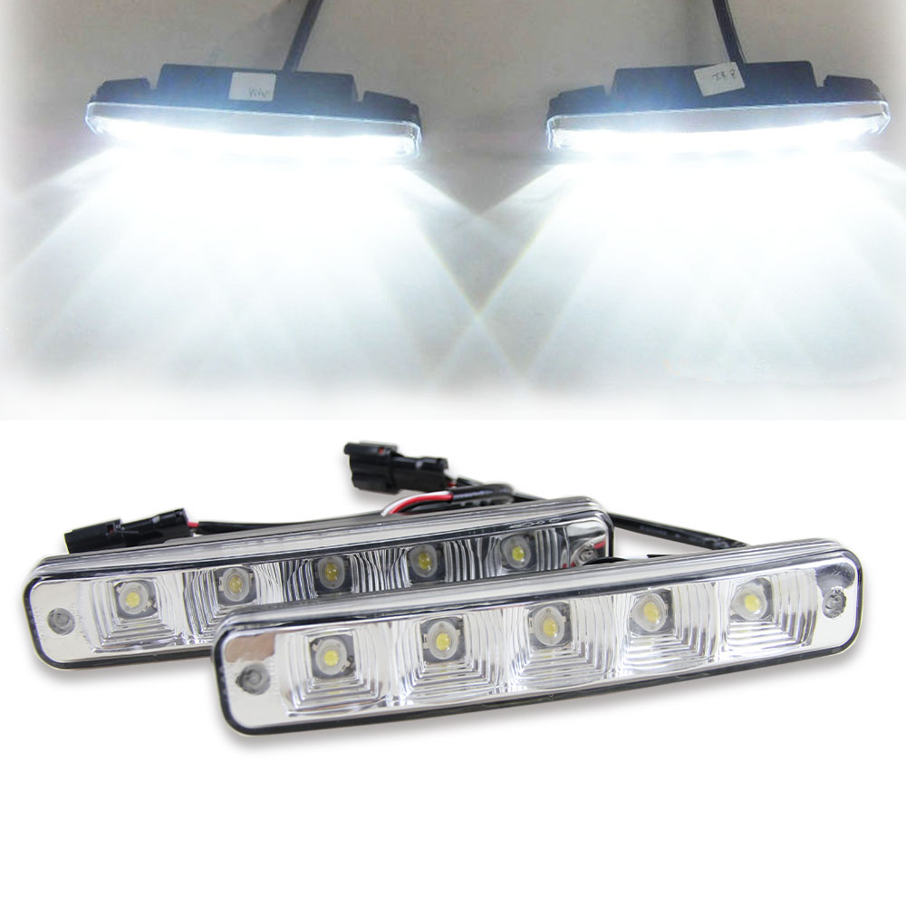 10W 6000K led day lights for all car day running light lamp universal 12V car led drl auto day light high power car light source lyc headlights auto day running light kit truck light parts led lights car 6000k 7 inch led round 1800lm lamp car styling