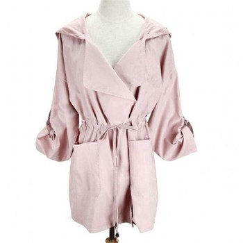 2020 Bomber Long Coat with Hood Womans Fashion 6