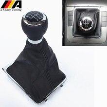 5/6 скорость M рукоятка для рычага переключения передач трость гетры крышка багажника воротник для Volkswagen VW Passat B6 2005-2011 аксессуары для стайлинга автомобилей