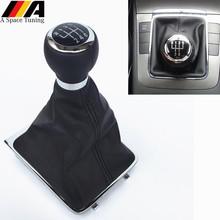 5 6 prędkość M dźwignia zmiany biegów kij osłona buta kołnierz dla Volkswagen VW Passat B6 2005-2011 akcesoria samochodowe do stylizacji tanie tanio A_Space_Tuning For VW Passat B6 0 11kg High Quality ABS plastic and Chrome Replacement 200000635