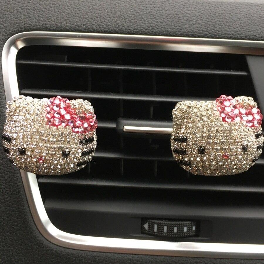 Car Perfume Diamond Cute Hello Kitty Outs