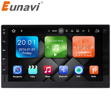 Eunavi 2 г Оперативная память Android 6.0 Универсальный Аудиомагнитолы автомобильные стерео GPS навигации двойной 2 DIN 1024*600 HD Автомобильный Радио мультимедийный плеер dab +