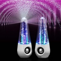 Bluetooth Water Dancing Speakers Music Fountain Speakers LED Crystal Colorful USB Water Spray Speakers For Android