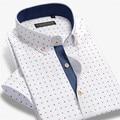 CAIZIYIJIA Summer Men cotton Print Short Sleeve  Casual  Shirt MCYF661-9  S-4XL