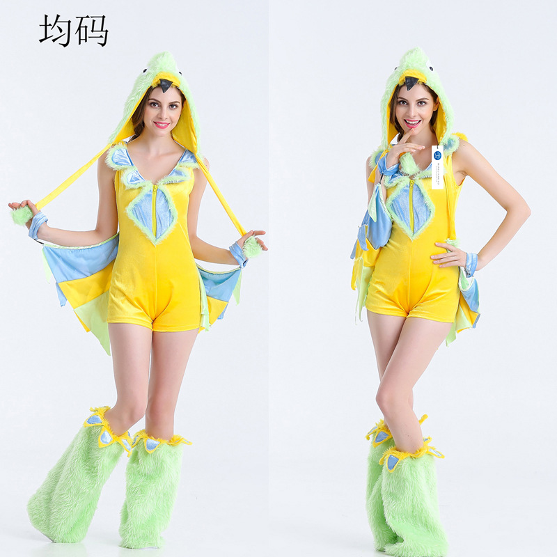 ManLuYunXiao 2017 Cosplay Costume Animal Cosplay Halloween Party Devil Uniforms Caterpillar Women Jumpsuit Adult Free Shipping