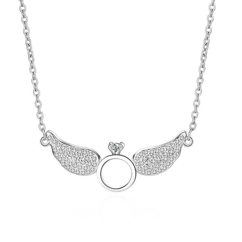 collier femme argent ange