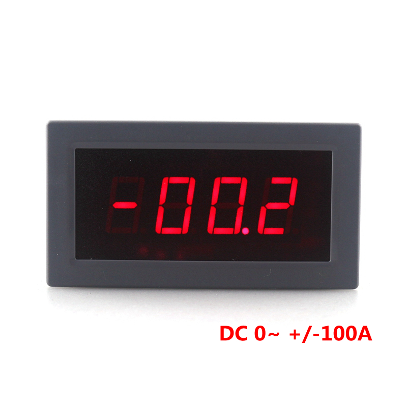 High precision Three semi-LED DC Digital Ammeter DC 0~ +/-100A Ampermeter Current Meter Tester Free shipping high precision accuracy 0 56 5 digits dc ammeter digital amp meter panel meter led current tester gauge monitor