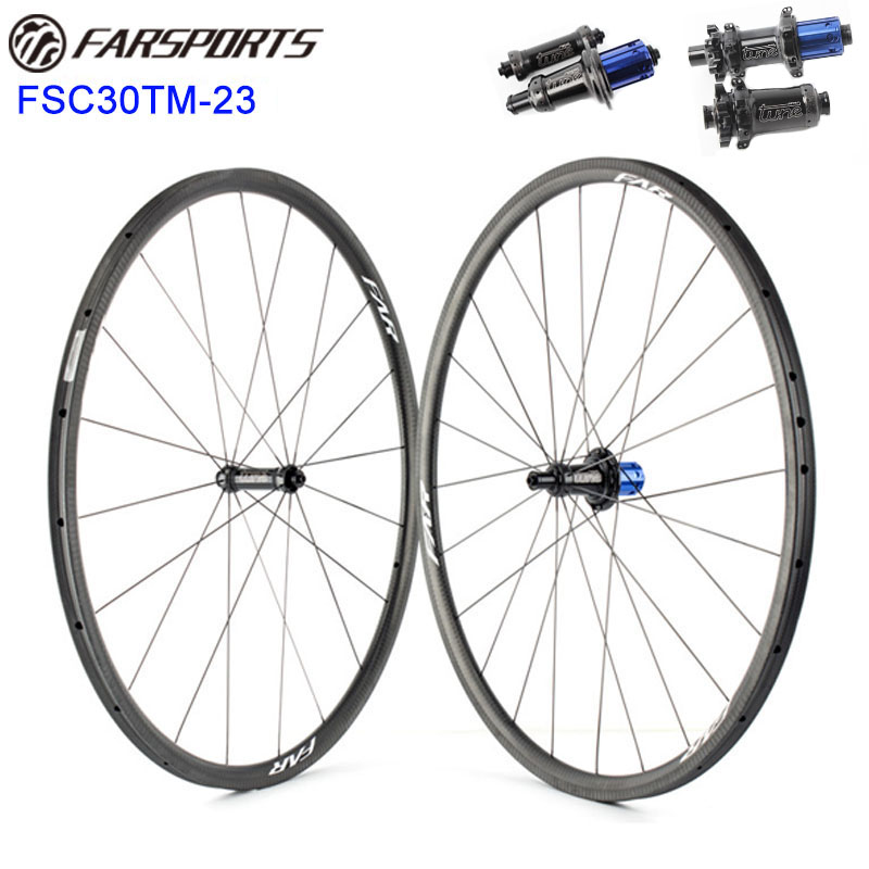 Top wheelset with super performance Tune road hubs original from Germany 30mm x 23mm tubular rims super light wheels 1020g цена