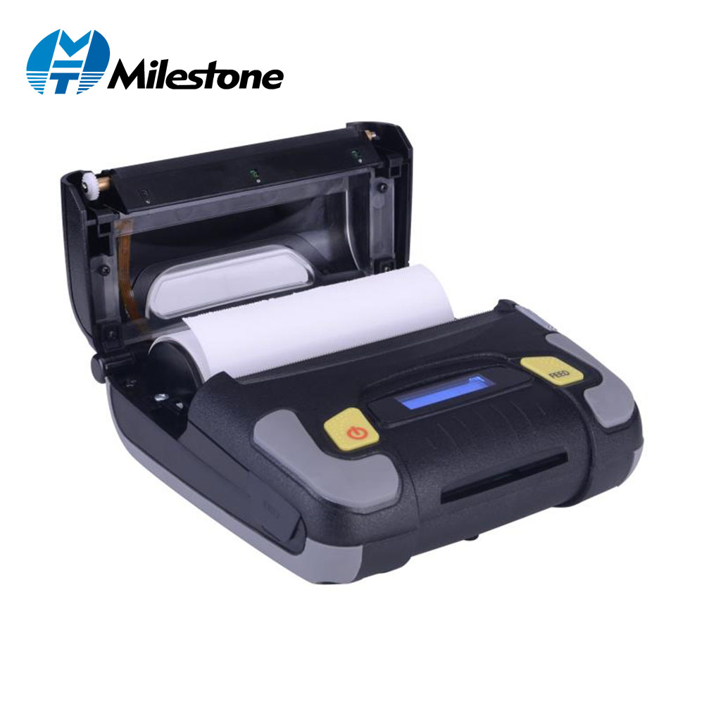 Milestone MHT P1081 4 inch Thermal Receipt Printer 108mm Portable Blueooth Printer Support Android IOS Windows
