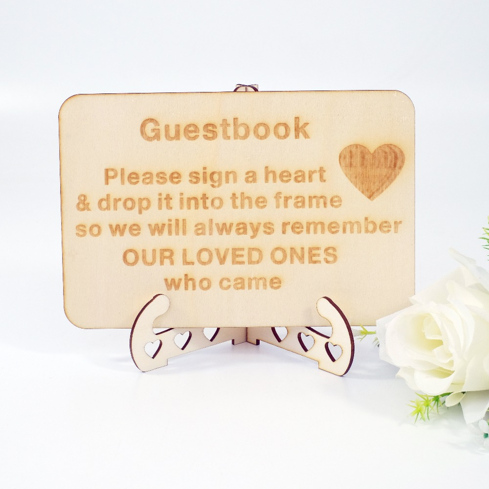 Guest Book Wedding Decoration Ideas: Wood Wedding Sign With Stand Guestbook Sign Wedding