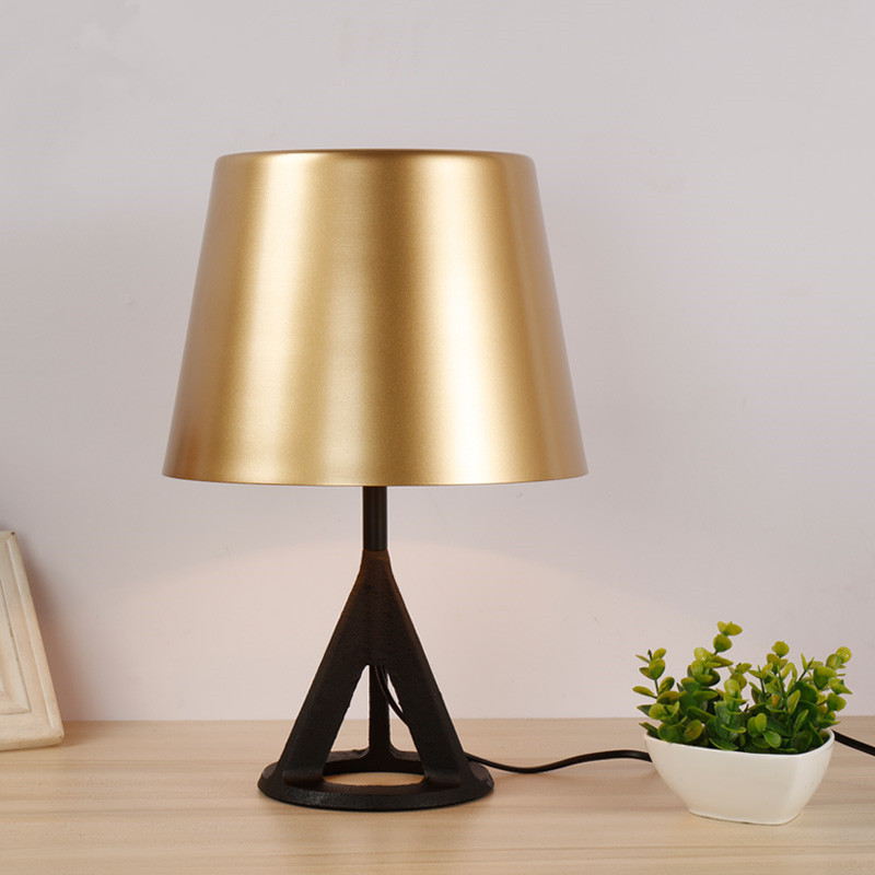 US $128.76 13% OFF|Tom Modern Cast Iron Table Lamp Brass Desk Lamp  Contemporary Bedroom Study Table Lamp Home Bar Art Decor Lighting TA074-in  Table ...