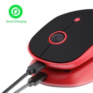 Image 4 - T WOLF q10 무선 충전식 컴퓨터 마우스 2.4 ghz 음소거 슬림 pc 마우스 휴대용 usb 광학 마우스 1600 인치 당 점 macbook/laptop