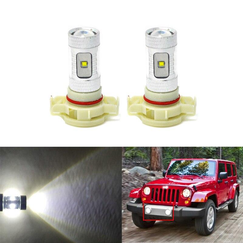 Direct Fit For Jeep Wrangler 2010 2017 Front Led Fog Light
