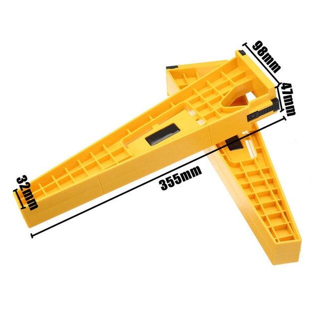 1set Schublade Installation Jig holzbearbeitung Schublade Rutsche Montage Werkzeug Schrank Installation Jig Schrank Hardware Installieren Leitfaden Werkzeug